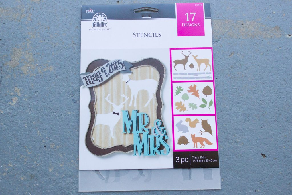 These FolkArt stencils are perfect for fall craft and DIY projects!
