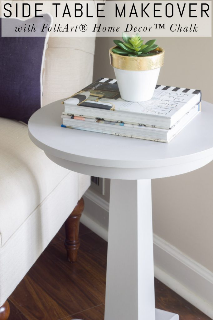 Side Table Makeover With Folkart Home Decor Chalk - Erin Spain