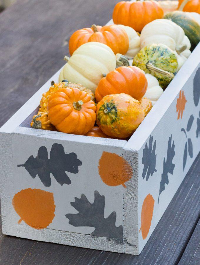 DIY Stenciled Fall Centerpiece