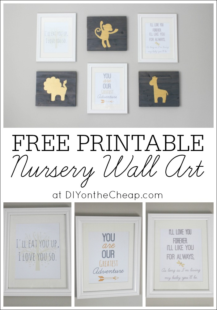 As Part Of The Little Gallery Wall I Created In Our Nursery, I Designed  Some Free Nursery Printable Wall Art, And Today I Am Sharing 3 Of Them With  You!