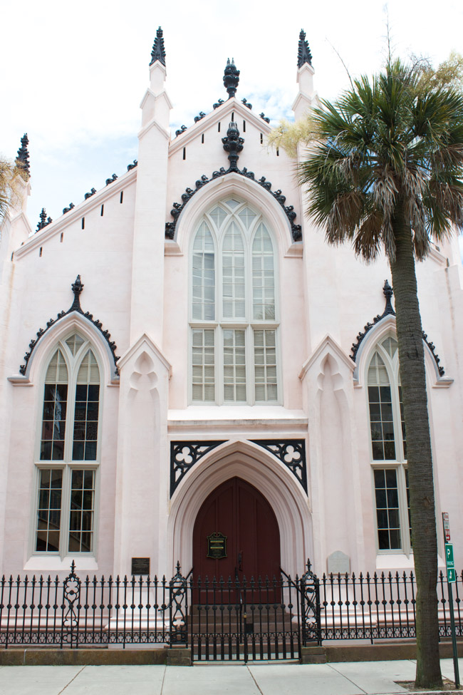 Check out this travel guide which shares lots of things to do in Charleston, SC! The French Huguenot Church is a beautiful attraction.