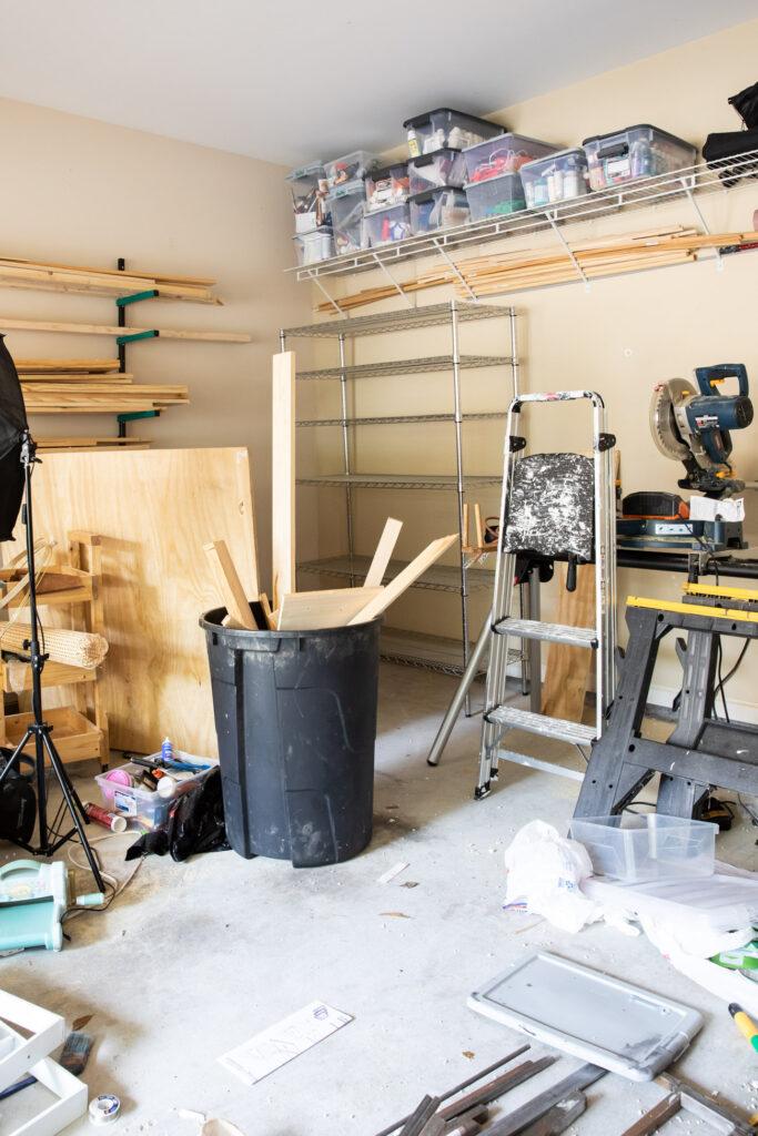 Garage organization in progress