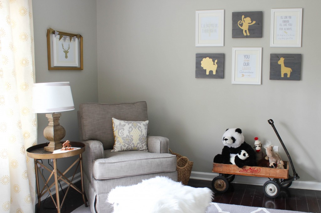 Gray and Gold Gender Neutral Nursery