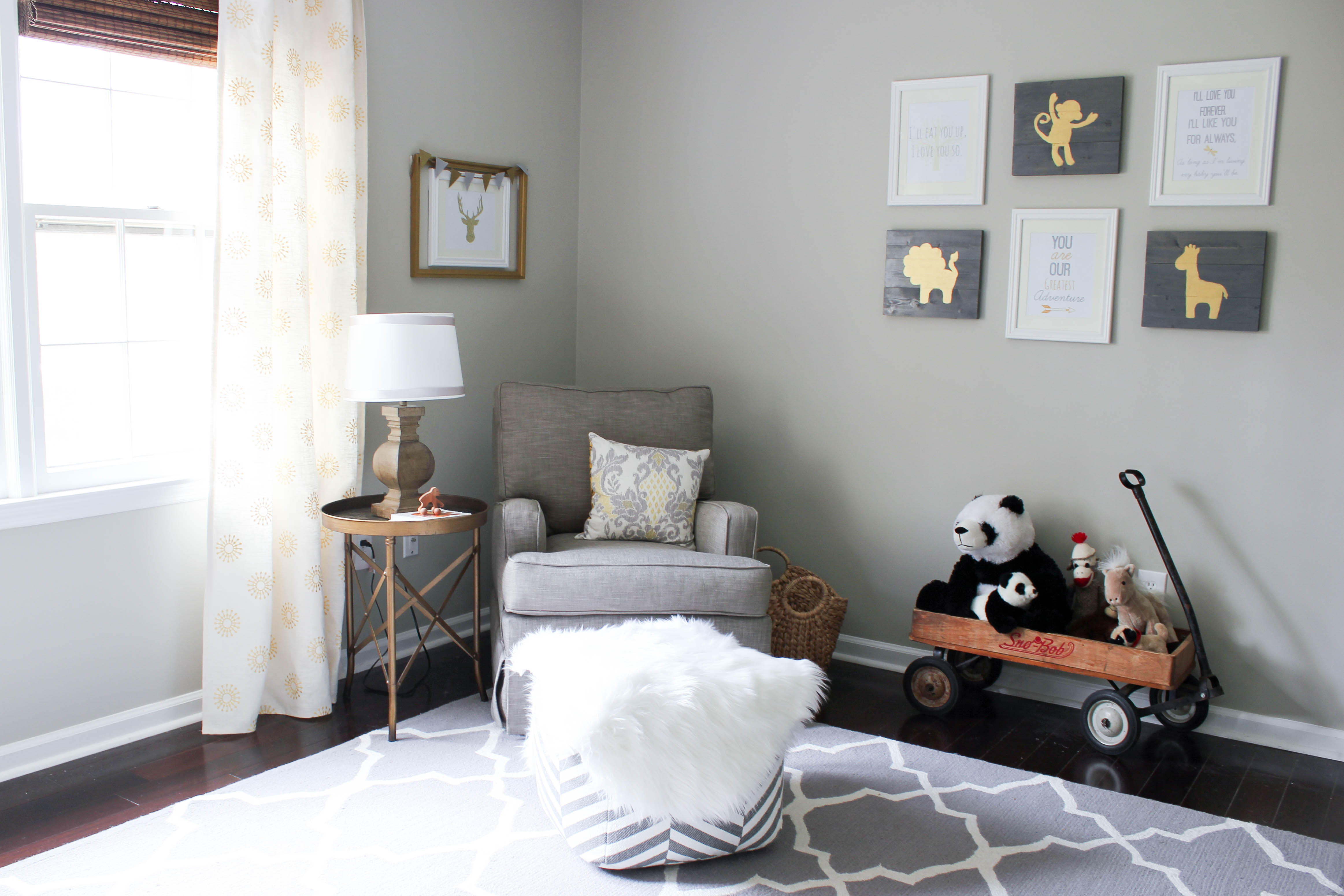Our Little Baby Boy S Neutral Room: Gray & Gold Gender Neutral Nursery Reveal