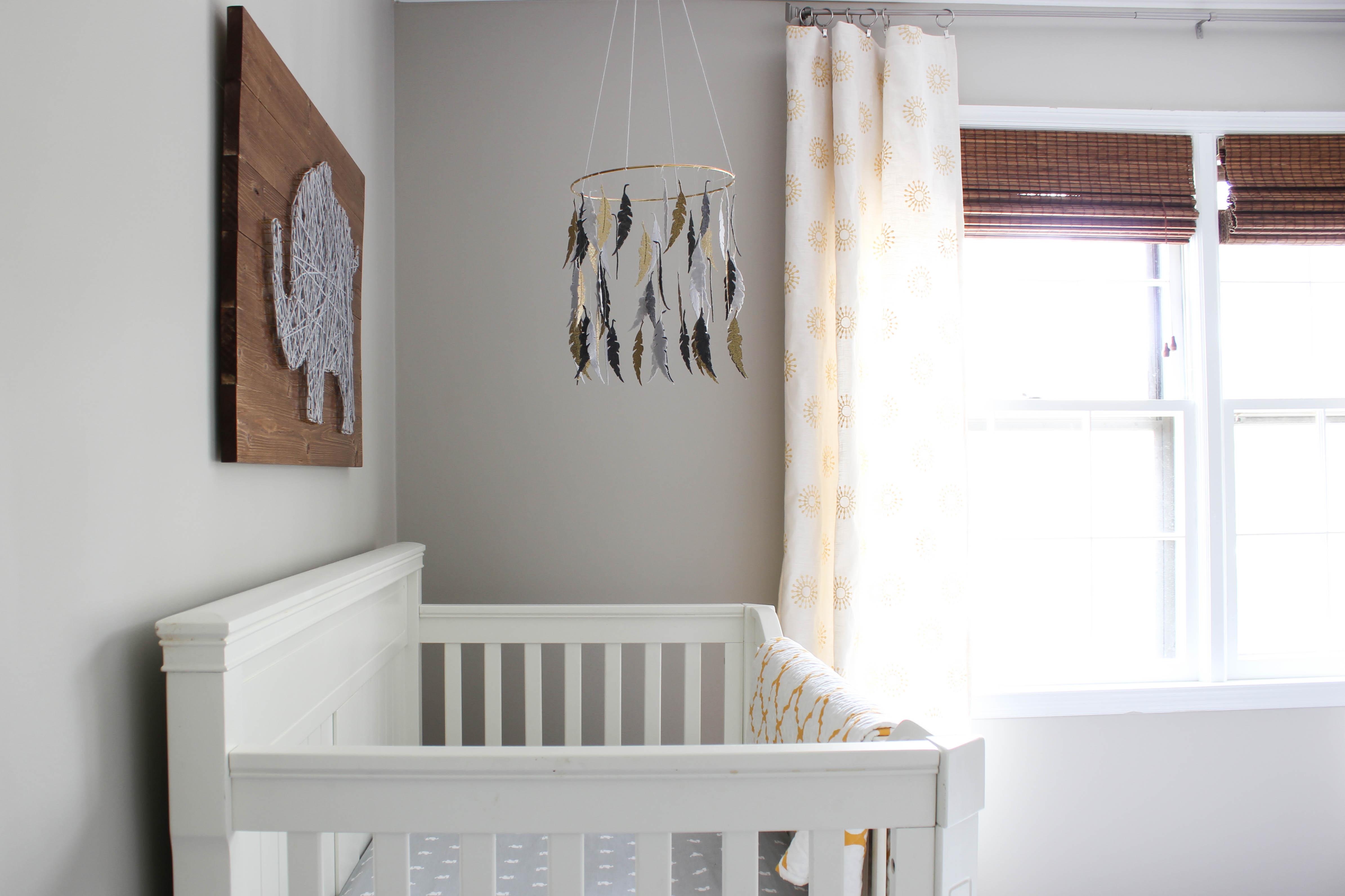 Gray Amp Gold Gender Neutral Nursery Reveal Erin Spain