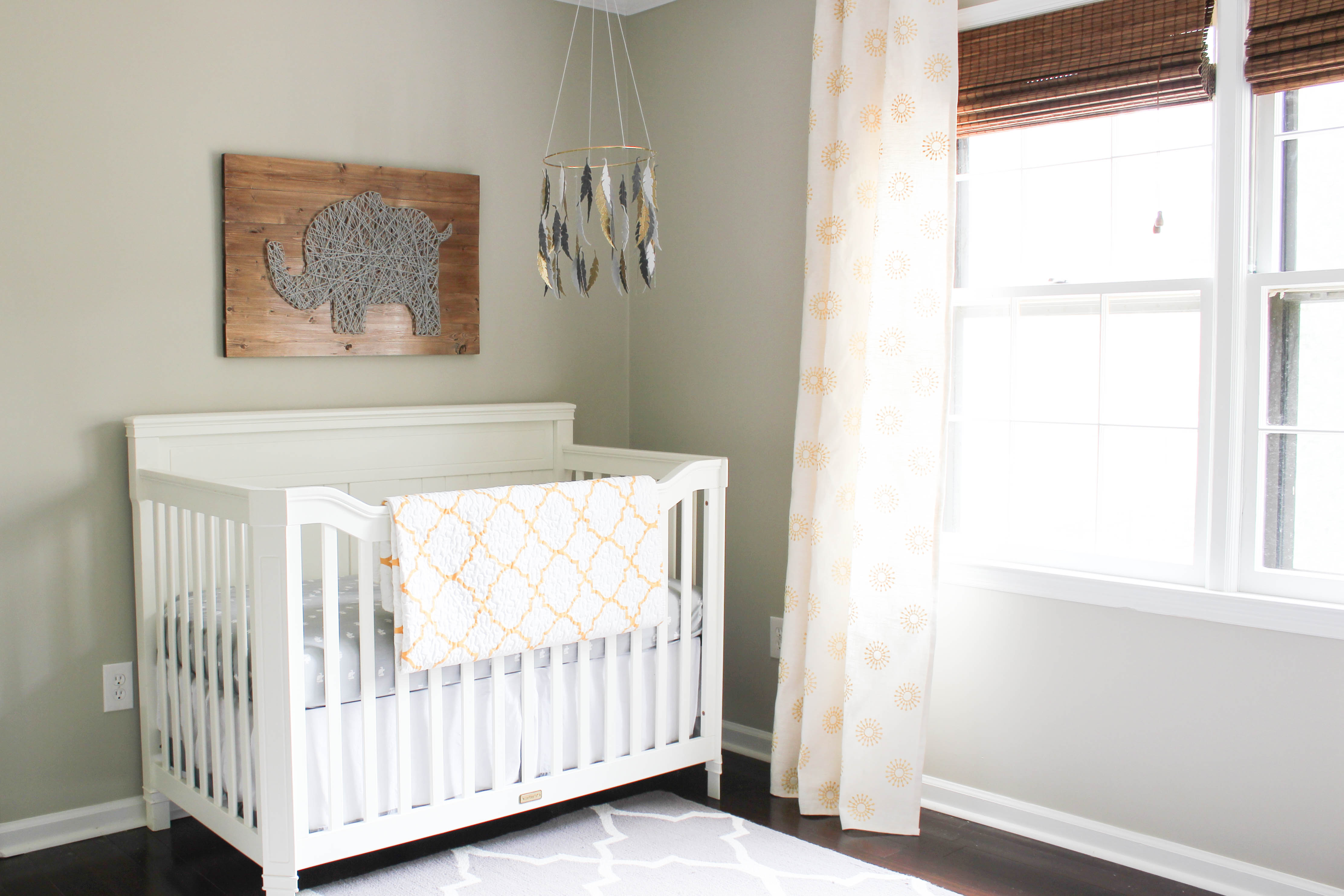 Gray Amp Gold Gender Neutral Nursery Reveal Erin Spain