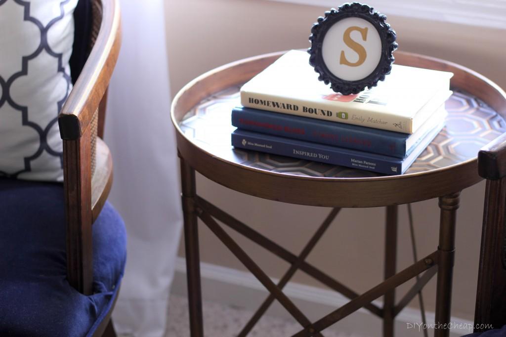 Gold Side Table: Bedroom Makeover