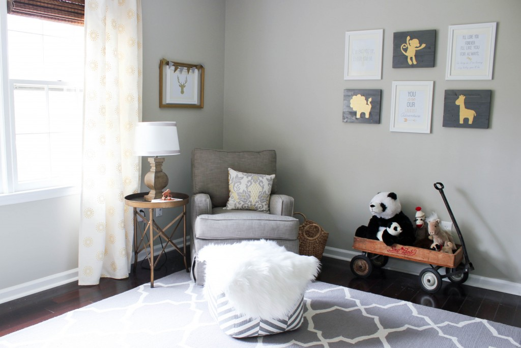 Gray and gold nursery