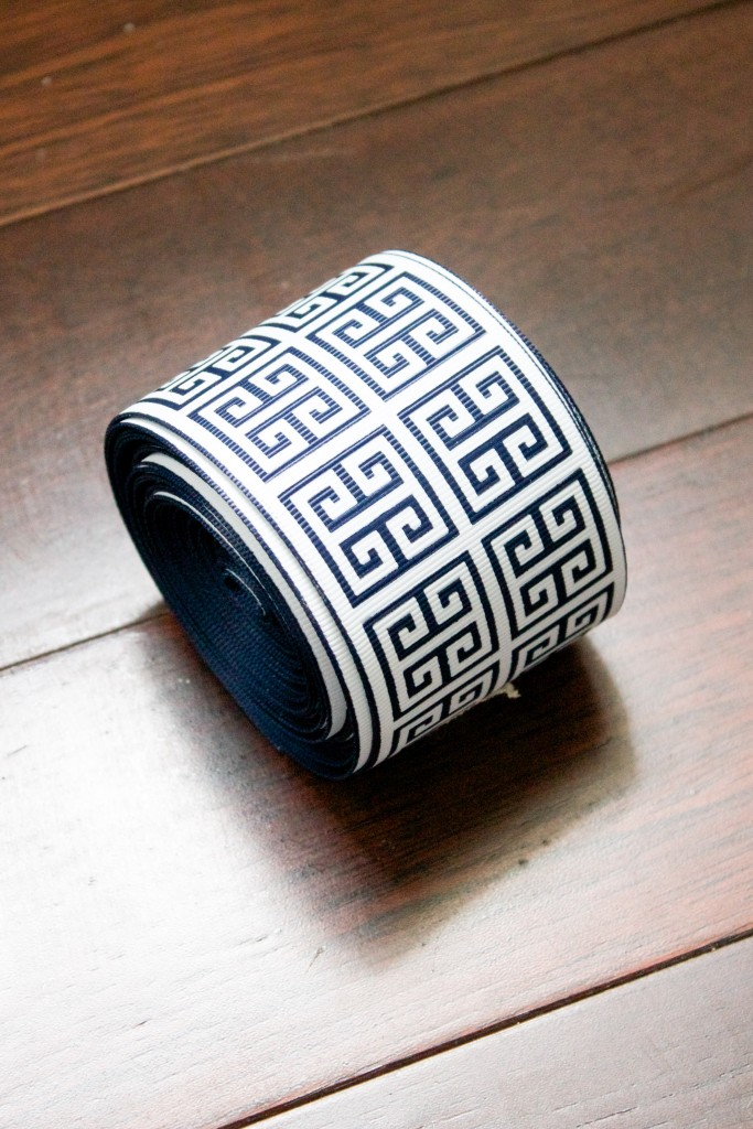 Navy Greek Key Ribbon Trim