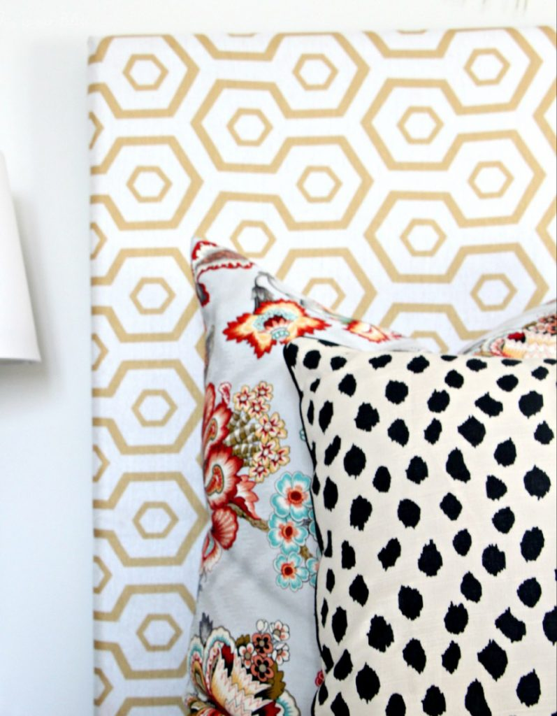 DIY Headboard made out of a Curtain Panel