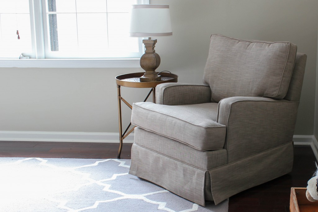 Best nursery glider ever! Habersham glider from Home Decorators Collection.