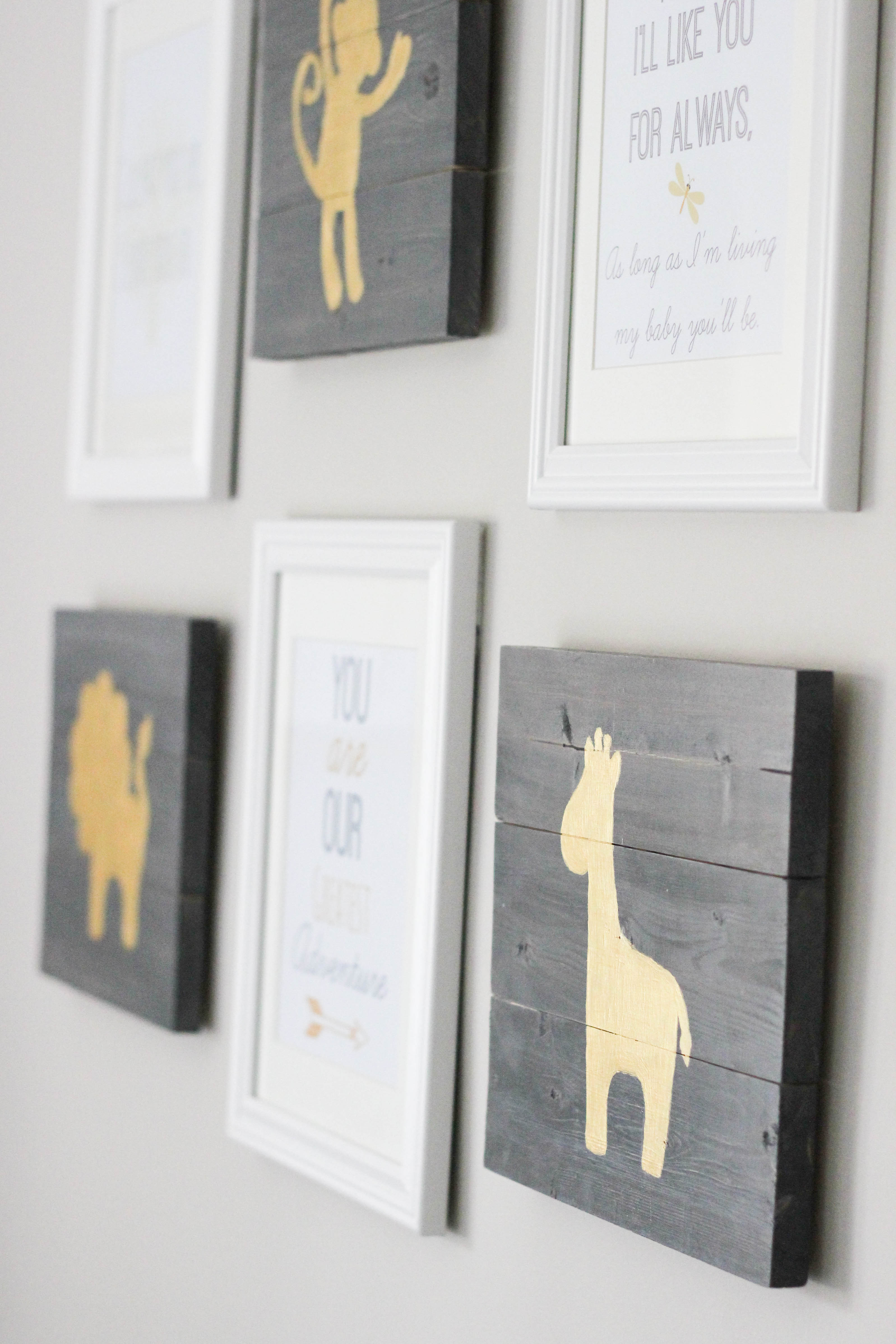 Even If You Don T Have A Nursery To Decorate This Artwork Would Make Great Baby Gift I Love Handmade Gifts And These Are Pretty Easy