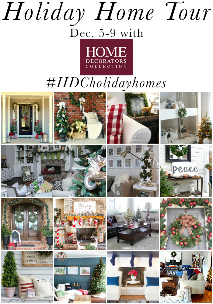 Check out the #HDCholidayhomes blog tour! Full of holiday decorating inspiration AND a chance to win a $250 Home Decorators Collection gift card!