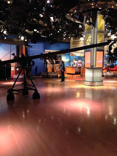 Robin Meade filming HLN Weekend Express