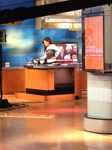 Robin Meade filming HLN's Morning Express