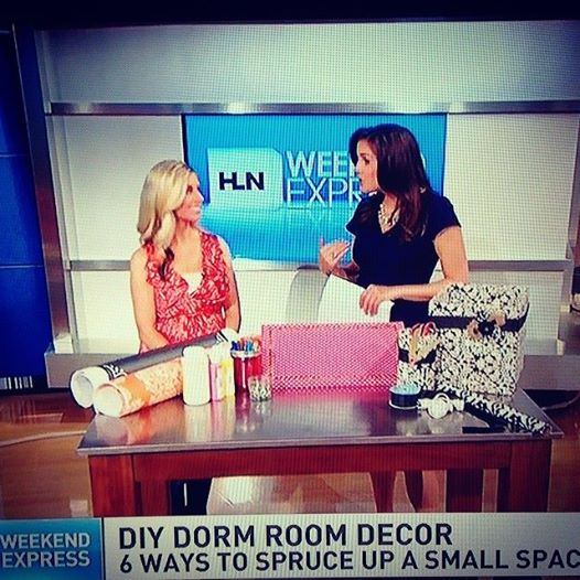 Erin Spain of DIY on the Cheap on HLN Weekend Express