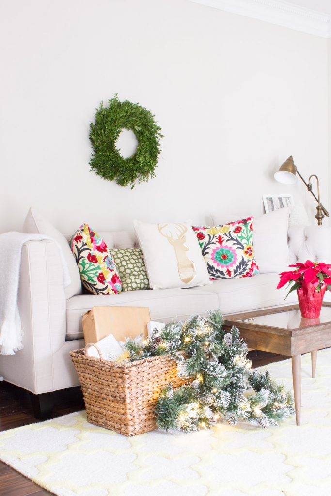 This mom cave decked out for Christmas with colorful holiday decor is so beautiful!