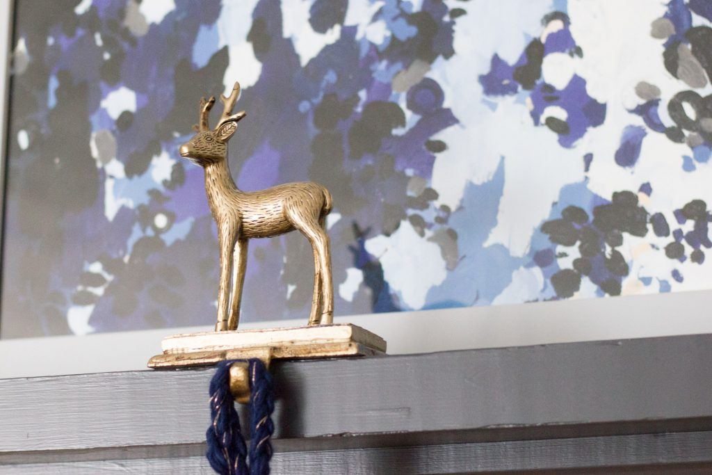Loving this pretty reindeer stocking holder from Home Decorators Collection.