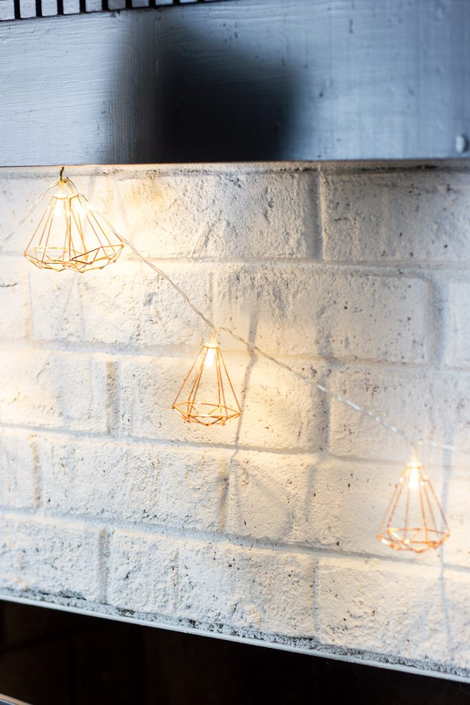 Love these geometric string lights from Home Decorators Collection.