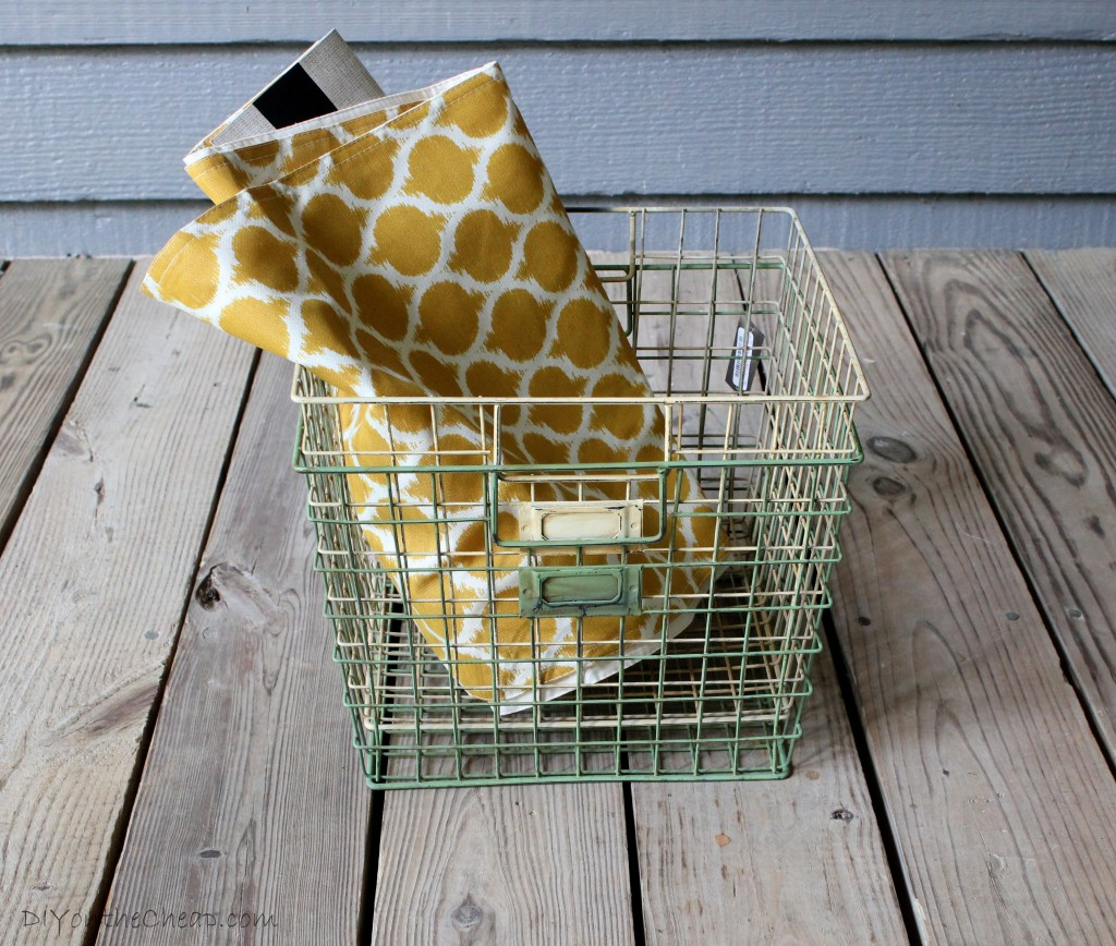 Home Goods Locker Baskets and Table Runner