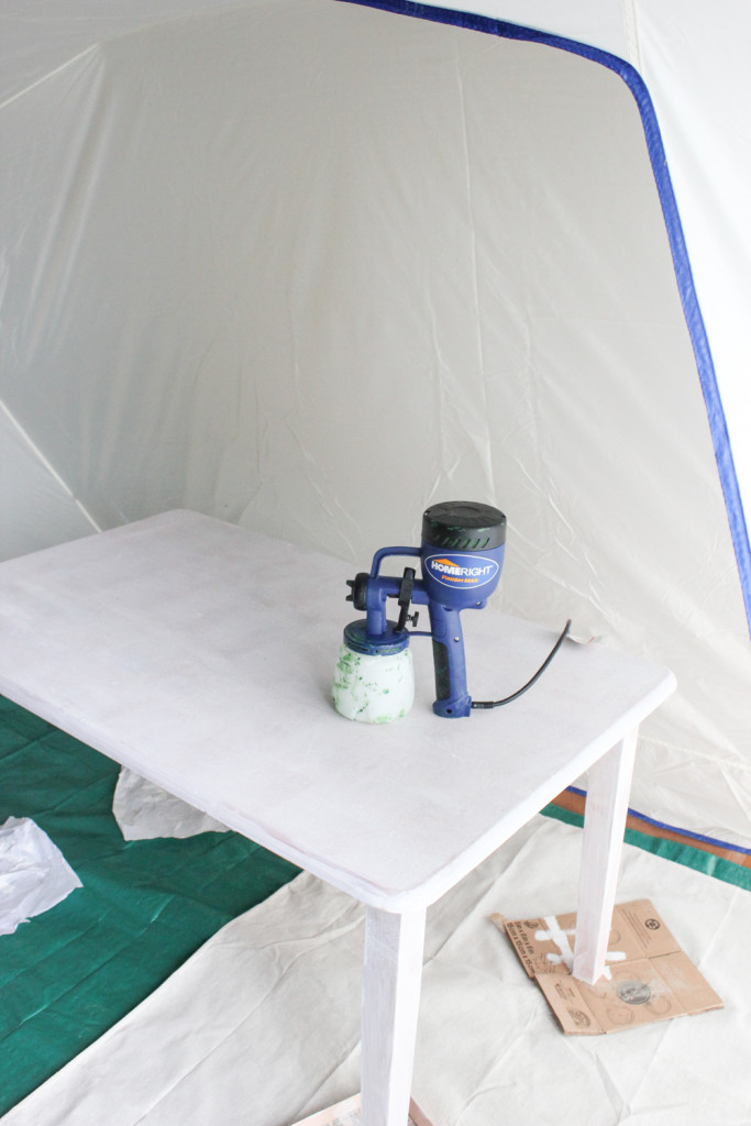 The HomeRight Finish Max & Spray Shelter make furniture paint projects a breeze.