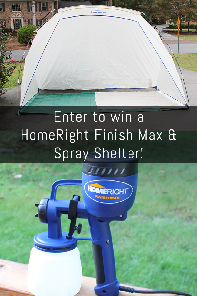 Enter to win a HomeRight Finish Max Paint Sprayer & a HomeRight Spray Shelter!