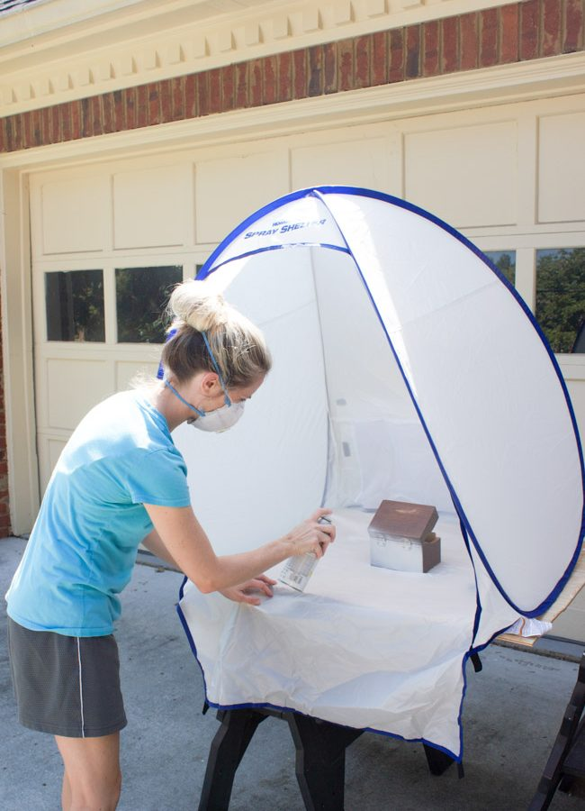 Spray Shelter for Small Paint Projects