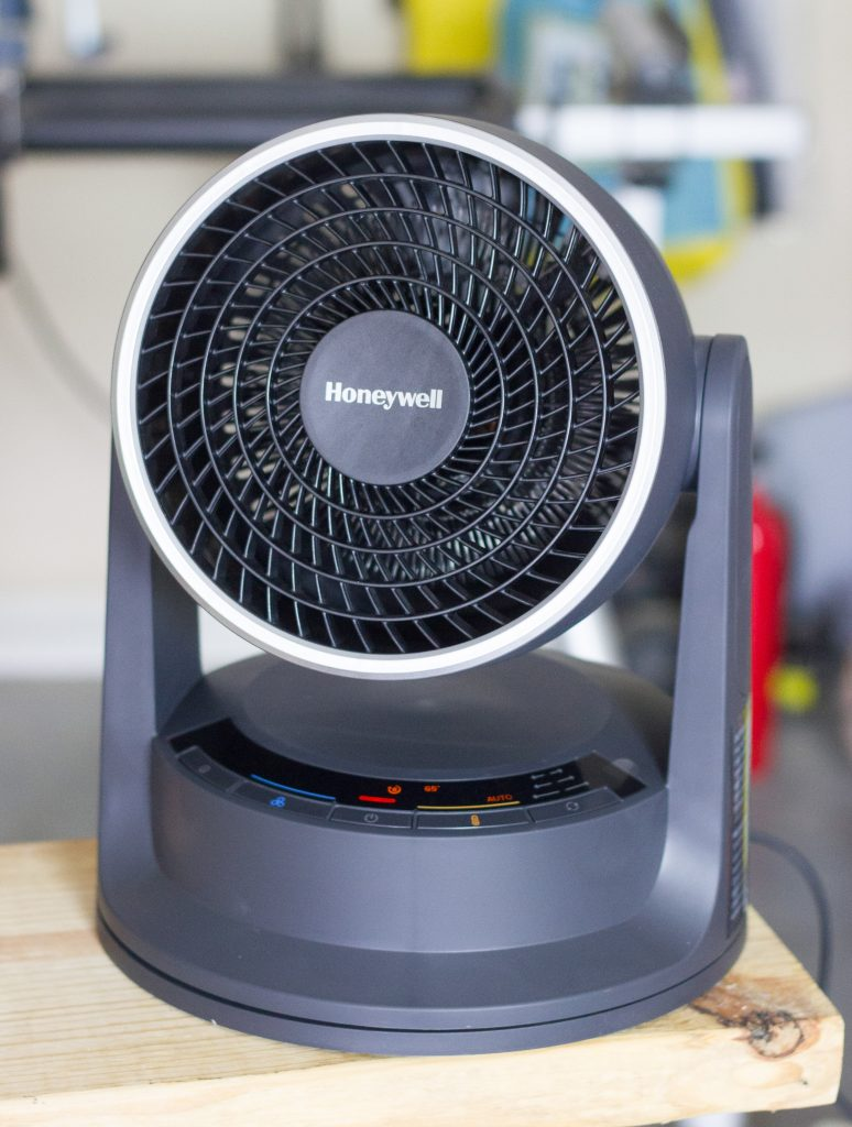 I warmed up my workshop with my new Honeywell Turbo Force Power Heat Circulator! Learn more at ErinSpain.com.