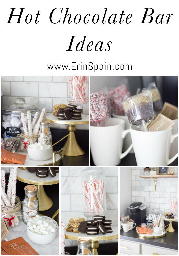 Loving these hot chocolate bar ideas! Perfect for the holidays.
