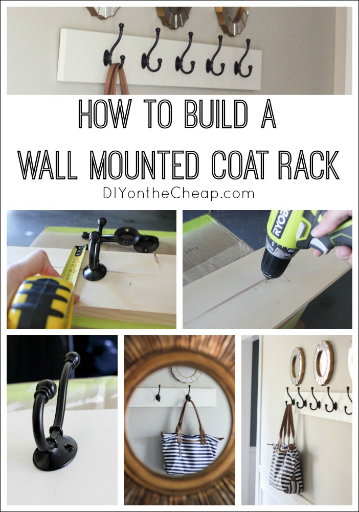 How to build a wall mounted coat rack, via DIY on the Cheap.