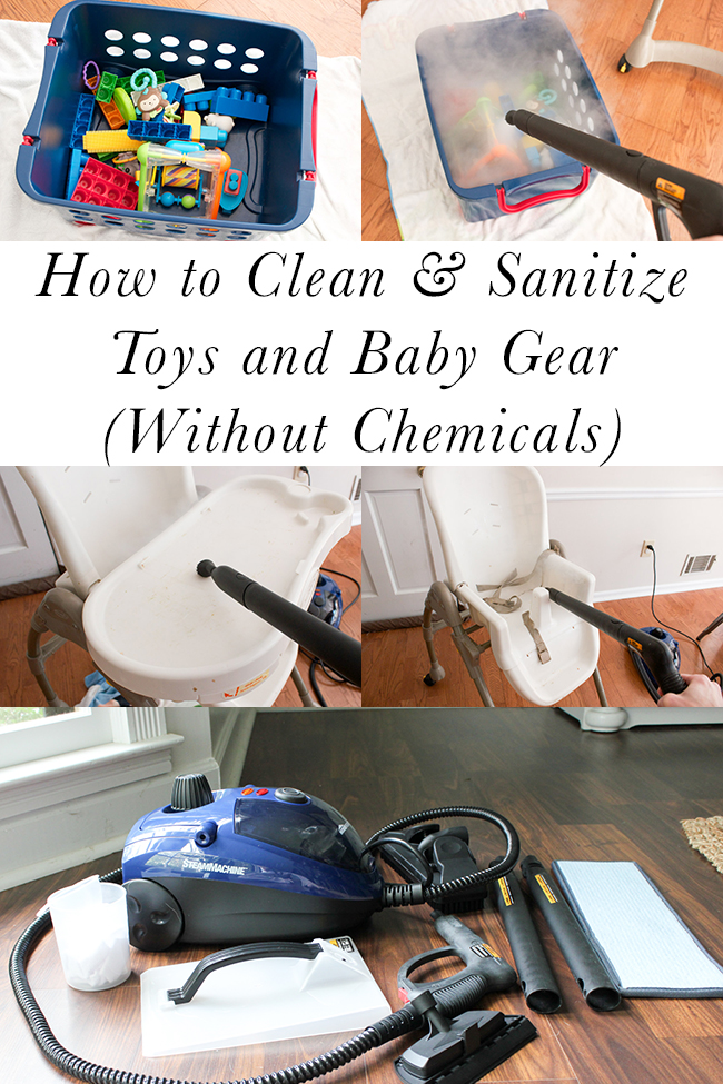 How to Clean & Sanitize Toys and Baby Gear Without Chemicals (plus a HomeRight Steam Machine giveaway!)