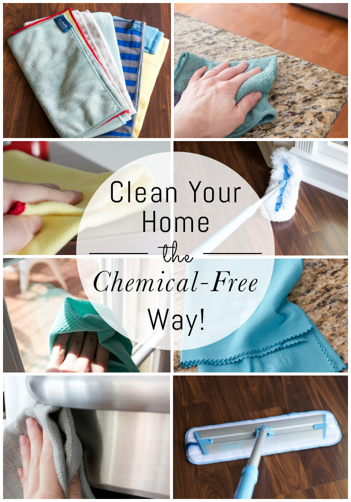 How to clean your home the chemical-free way! E-Cloth uses just water to clean and remove 99% of surface bacteria in your home. It's amazing!