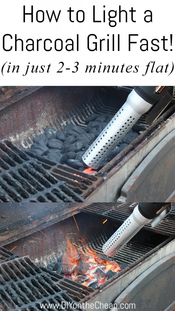 How to light a charcoal grill fast!
