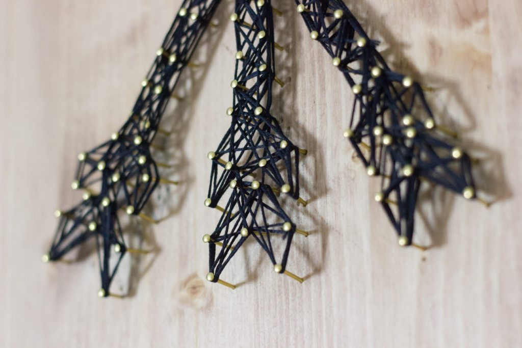 Learn how to make string art with this step by step tutorial.