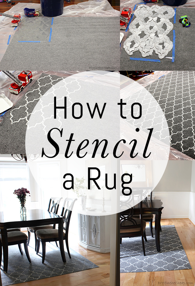 How To Stencil A Rug On The Cheap Erin Spain