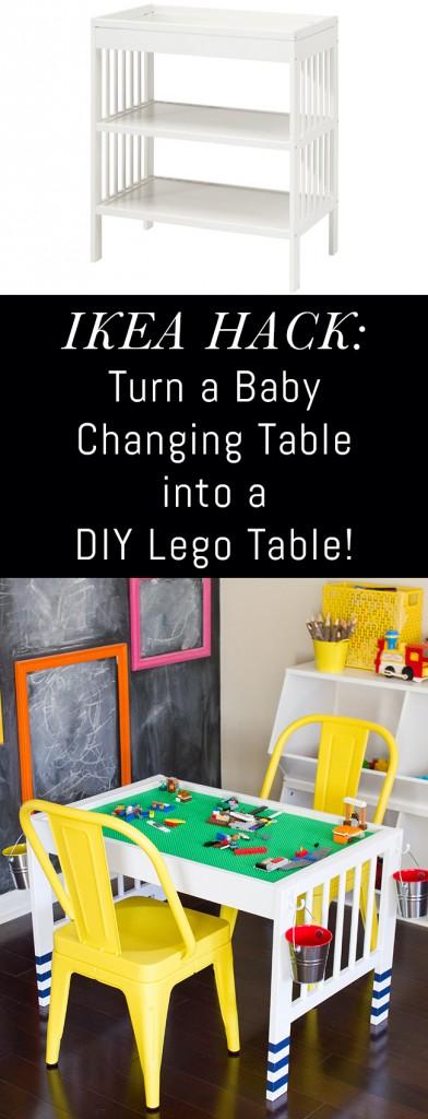 diy lego table ikea hack erin spain. Black Bedroom Furniture Sets. Home Design Ideas