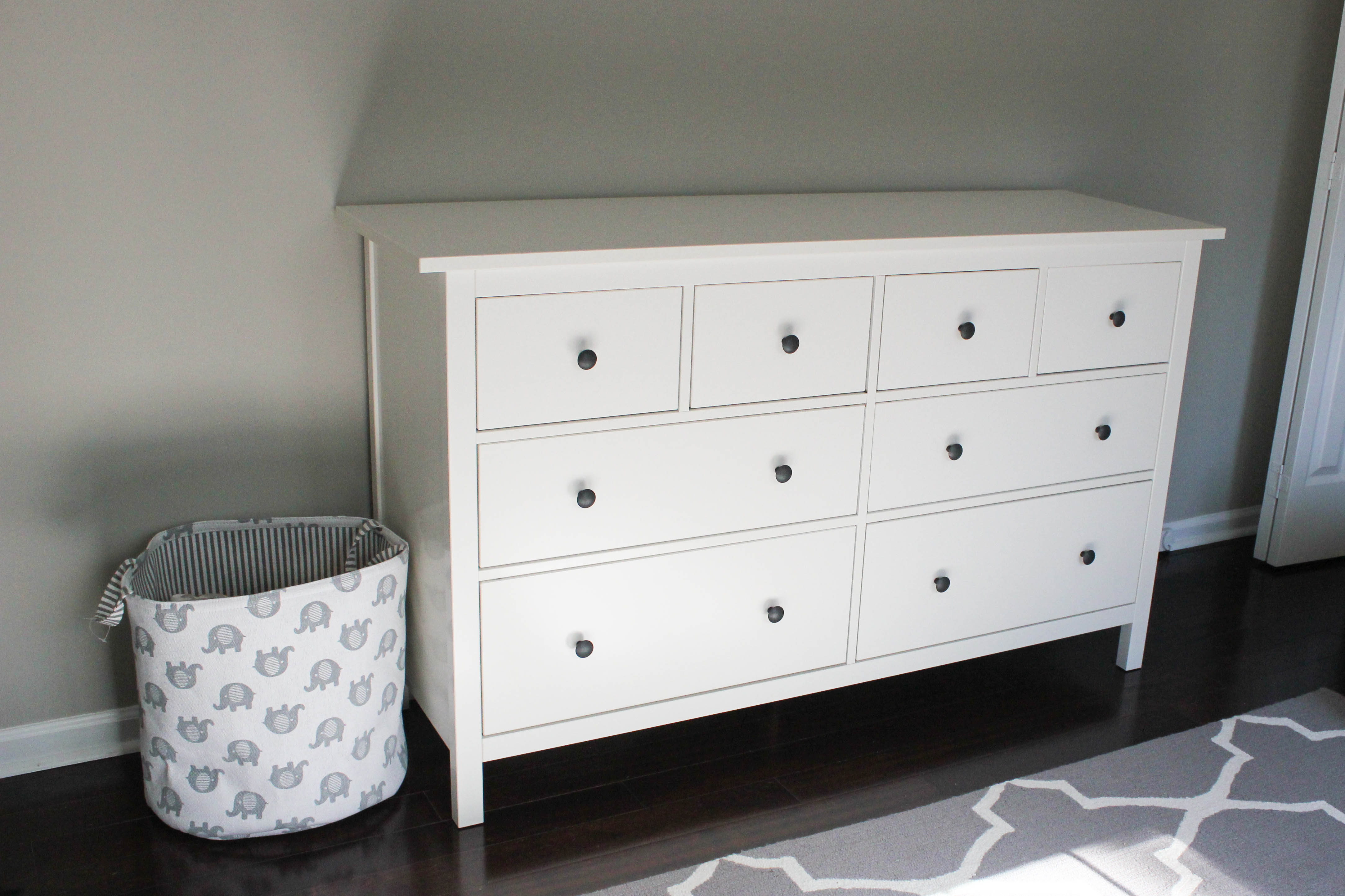 nursery progress ikea hemnes dresser erin spain. Black Bedroom Furniture Sets. Home Design Ideas