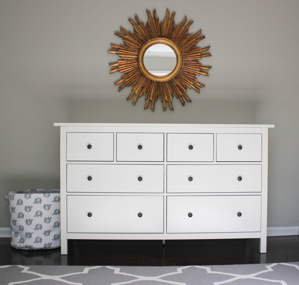 IKEA Hemnes Dresser and nursery progress