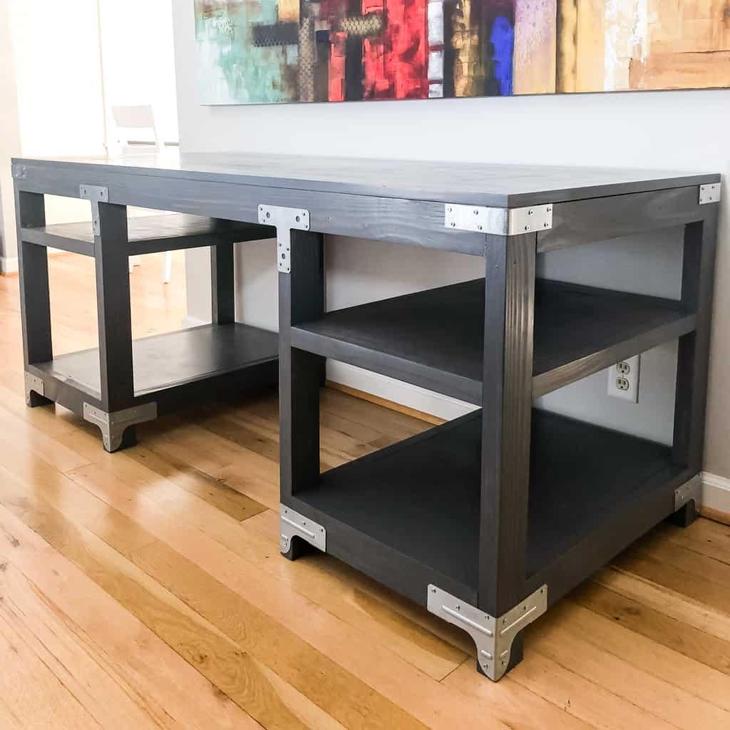 DIY Industrial Computer Desk