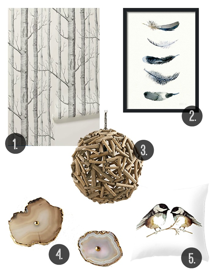 Decor inspired by nature