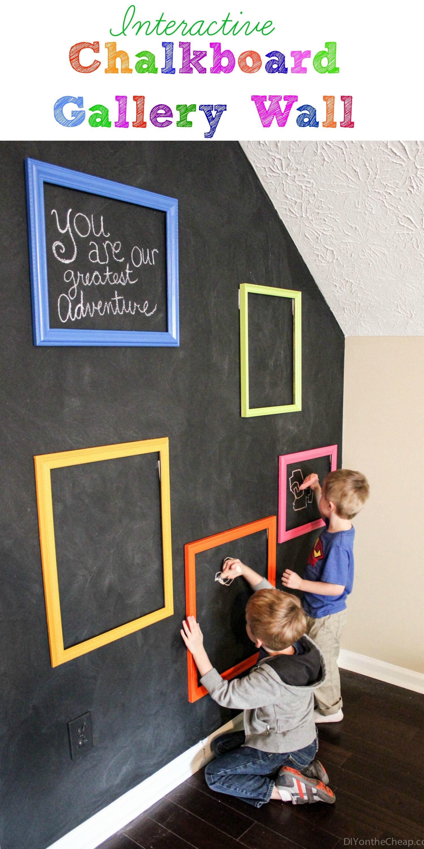 Interactive Chalkboard Gallery Wall