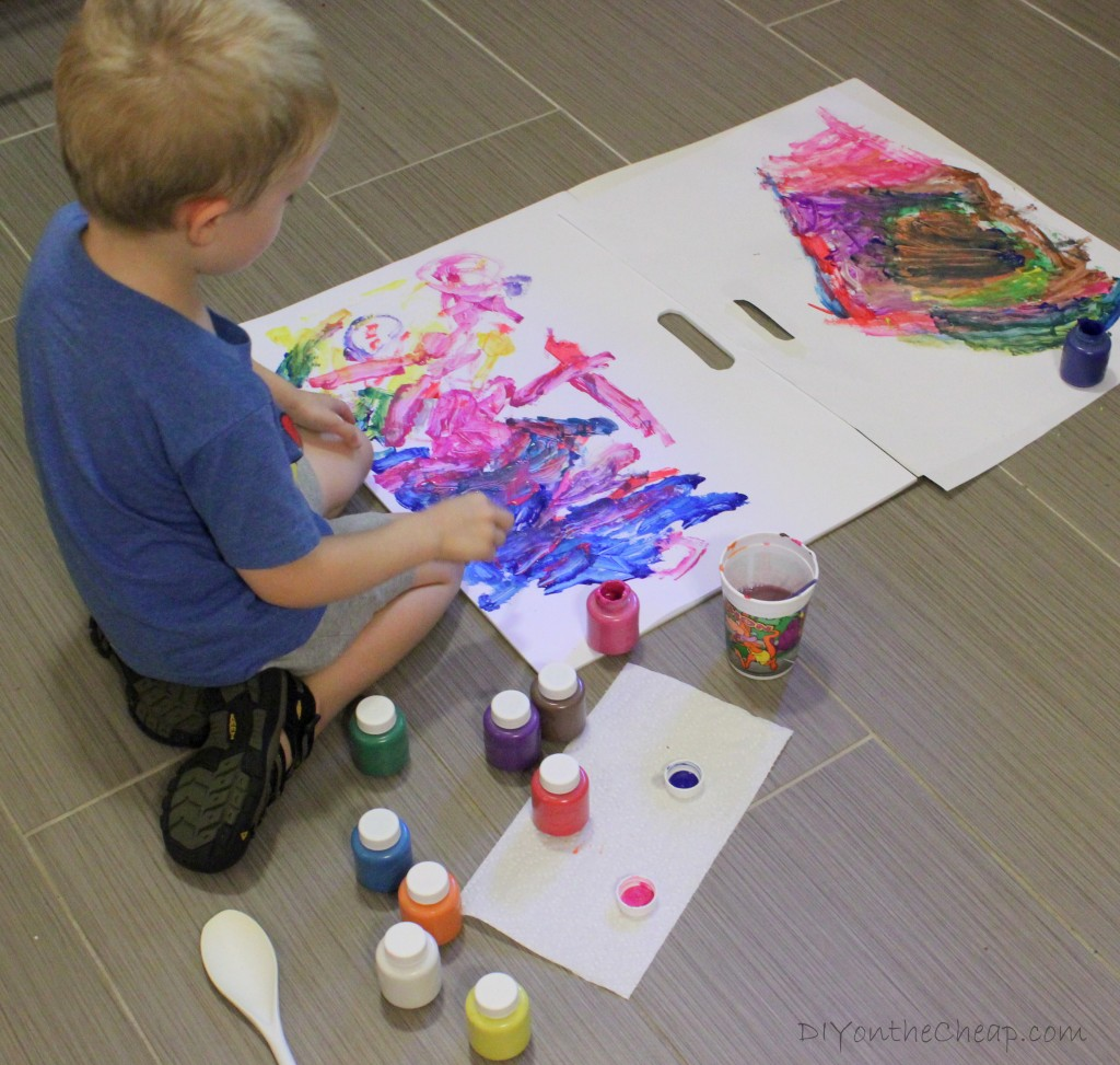 fun after school activity for kids abstract painting - Kids Pictures To Paint
