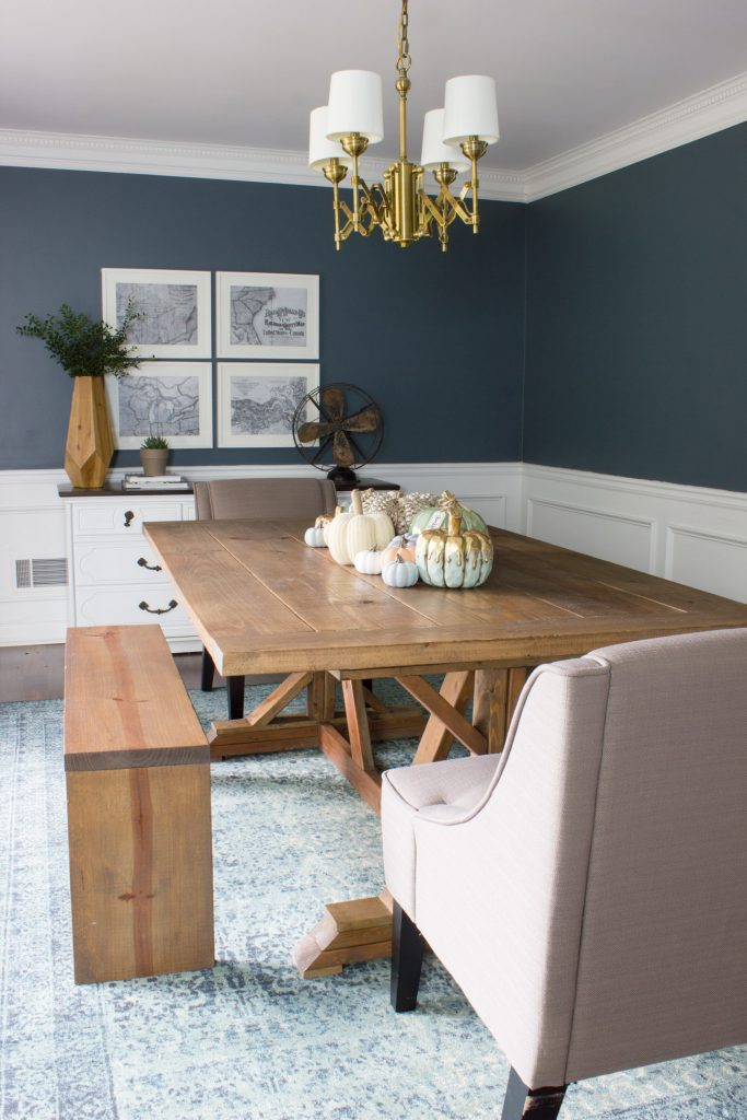 Check out this dining room fall decor with items from the Kirkland's Harvest Collection!