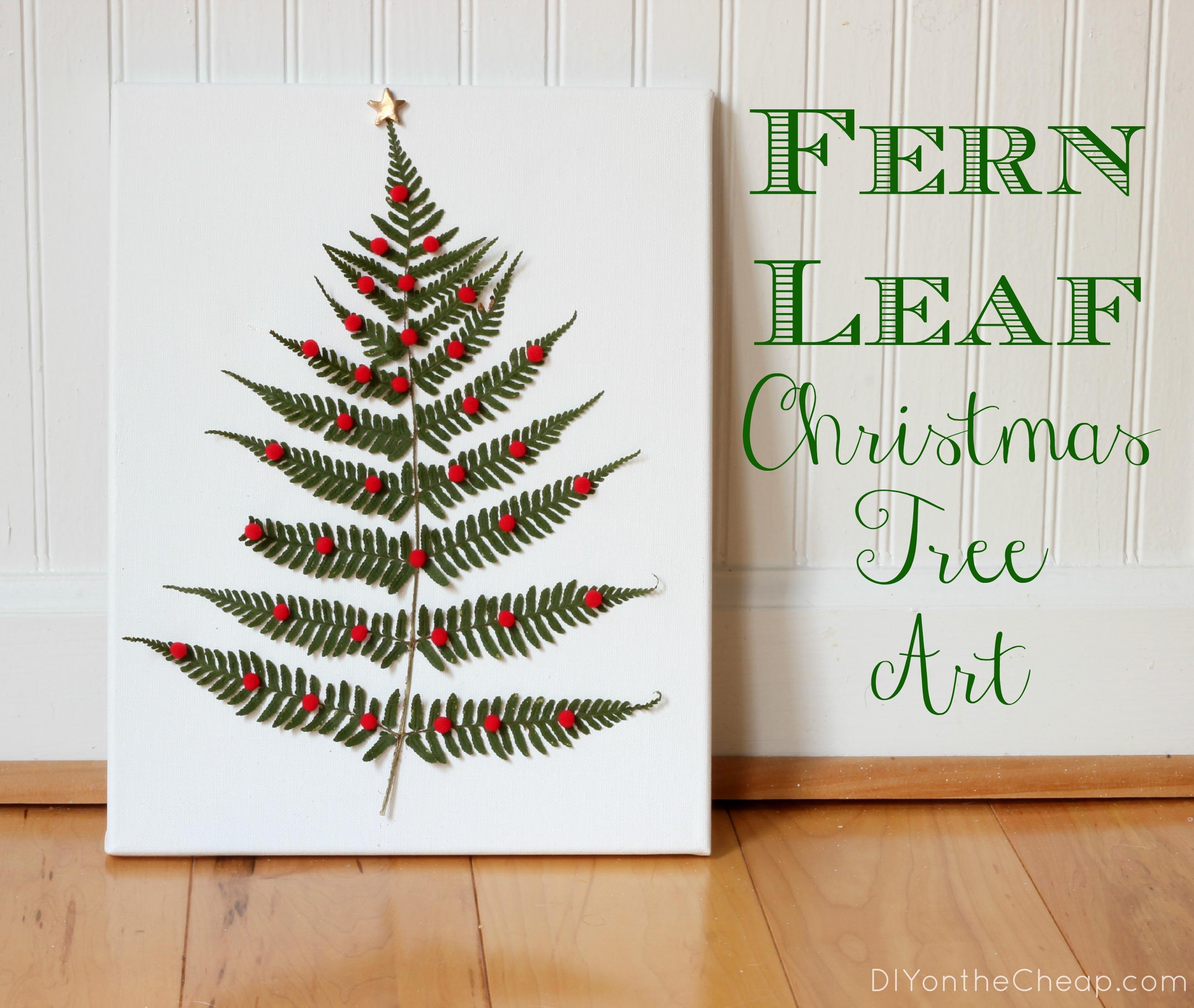 Fern Leaf Christmas Tree Art Erin Spain