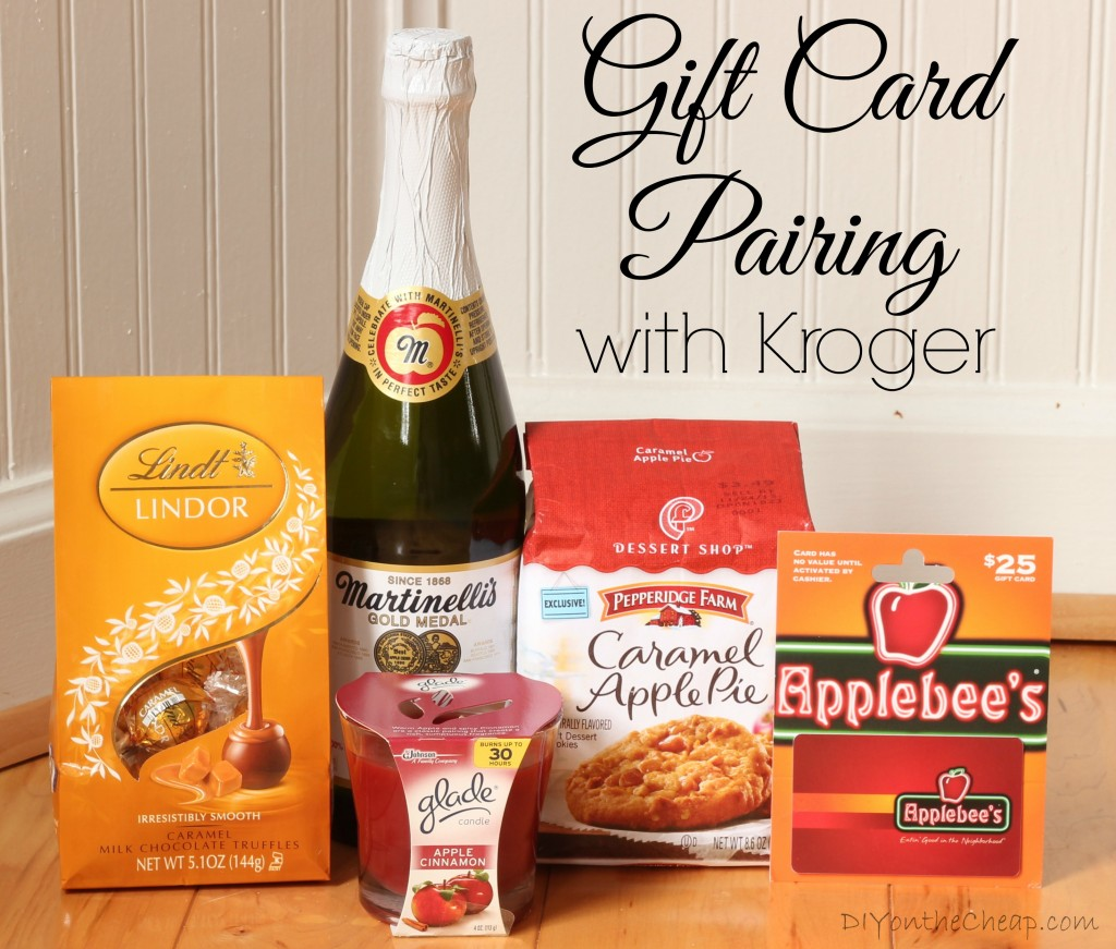 Kroger sells gift cards to a wide variety of stores and restaurants. Pair one with other items from the store as a unique, creative gift idea!
