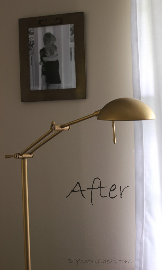 Lamp Makeover from silver to gold