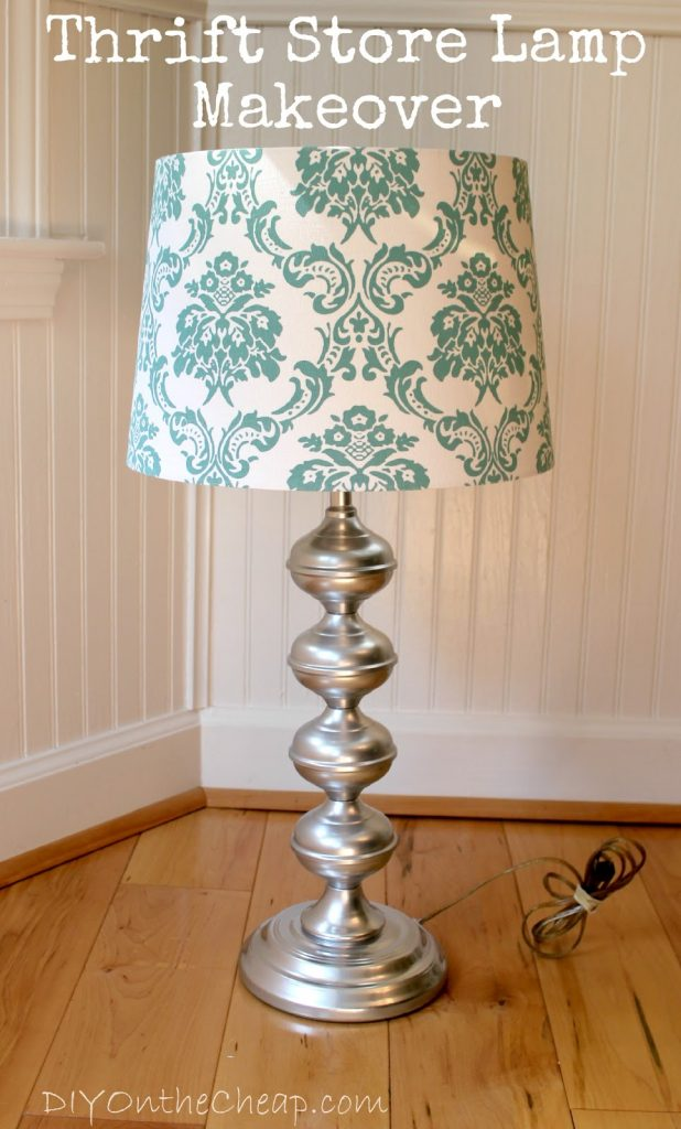 Thrift store lamp makeover erin spain for Redoing lamp shades
