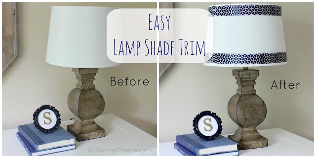 Easy Peasy Lamp Shade Ribbon Trim Erin Spain