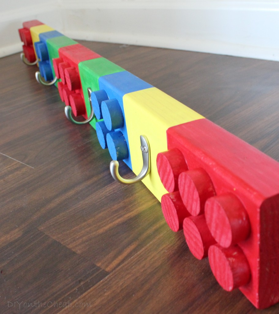 DIY Lego Coat Rack