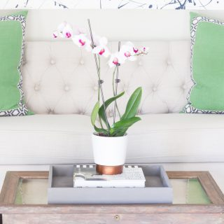Loving this DIY painted serving tray! The best part is that it's SUPER inexpensive! FolkArt Coastal™ makes it easy to get a beautiful weathered look.